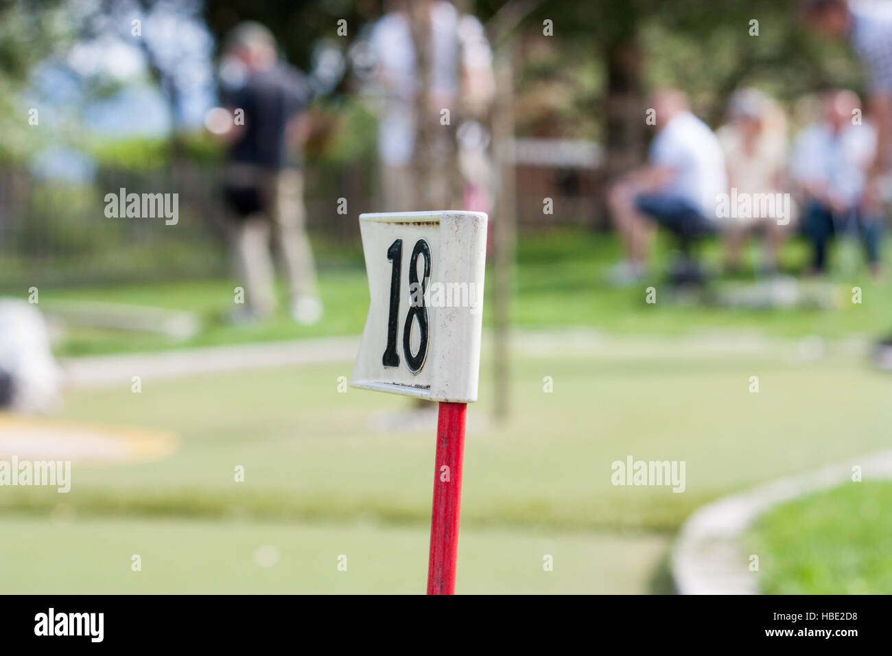 On 18th hole - All Grown Up - Stock Image