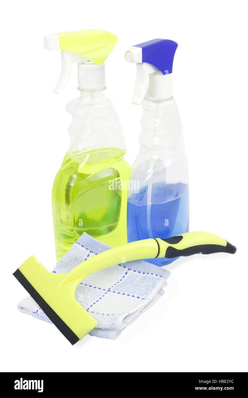 Means for washing windows - Stock Image
