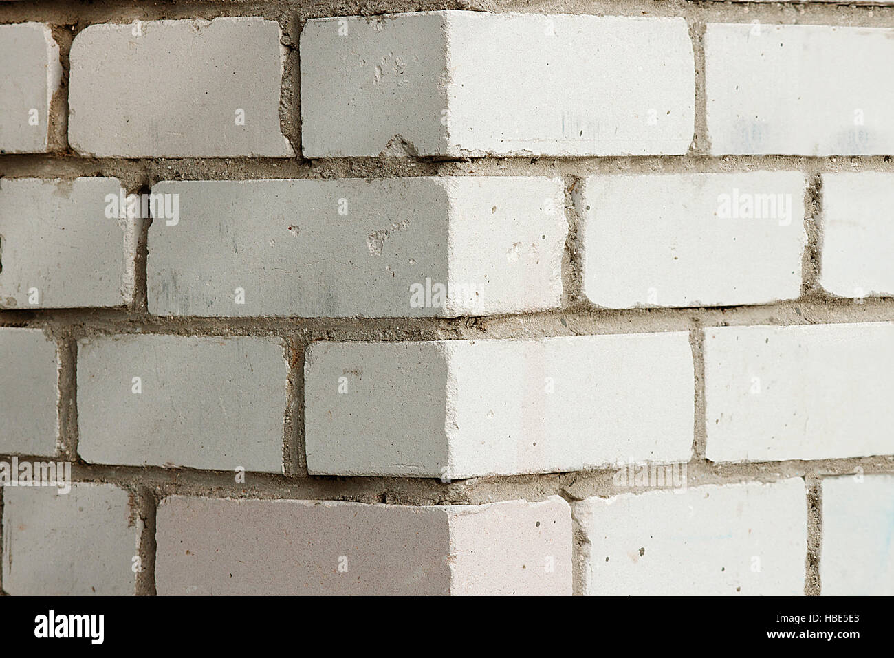 The angle of the brick buildings - Stock Image