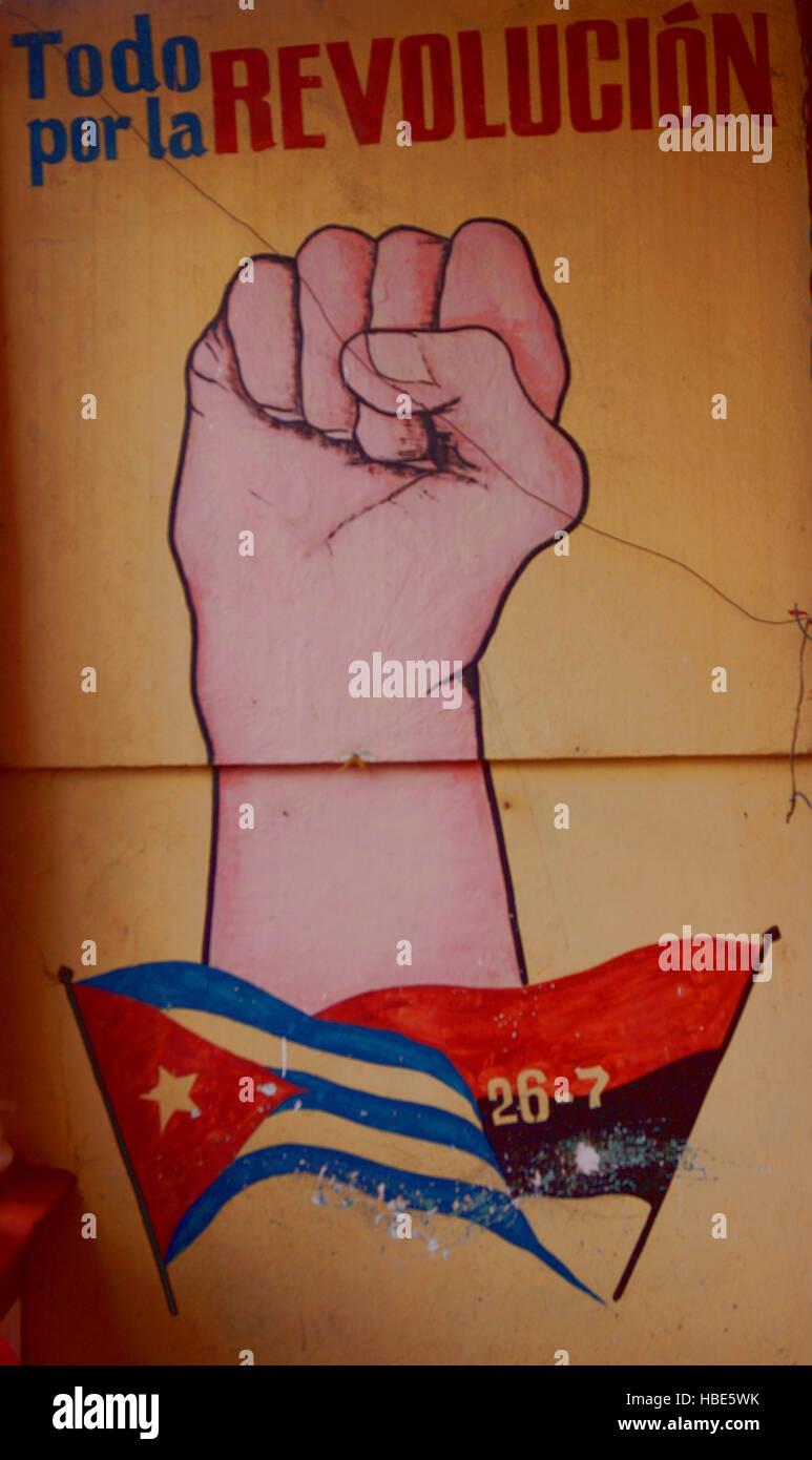 kubanische Propaganda - Stock Image