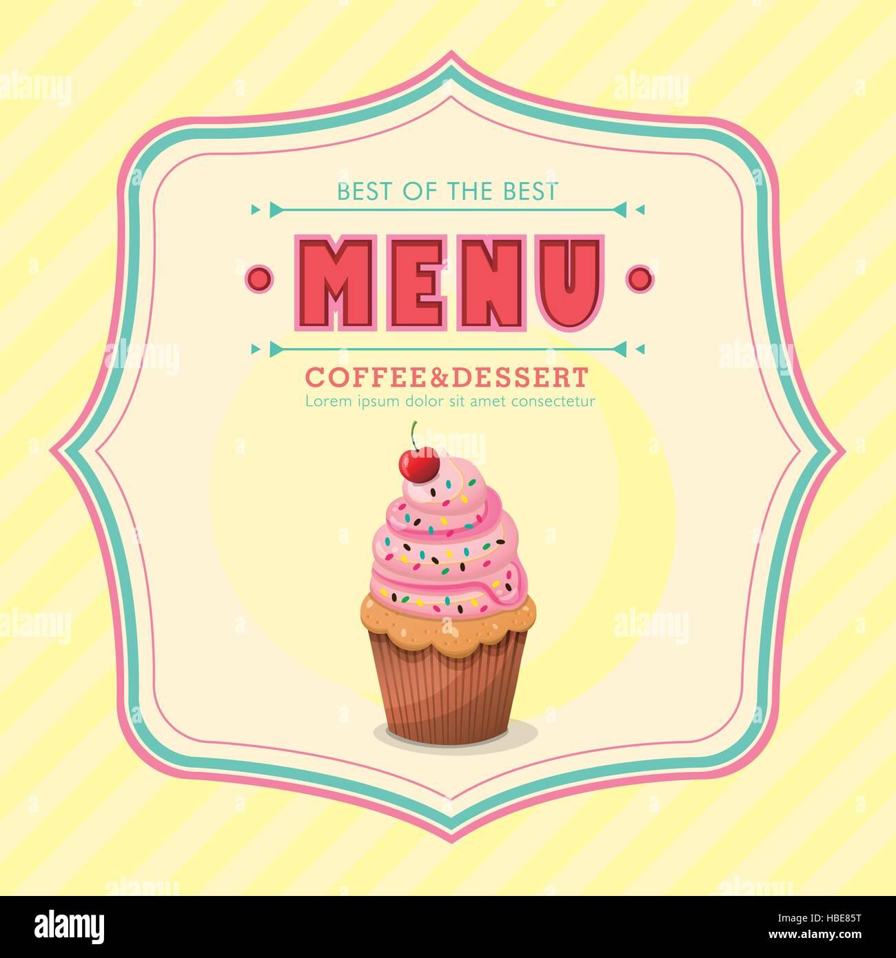 restaurant ice cream menu cover vector design template Stock Vector ...