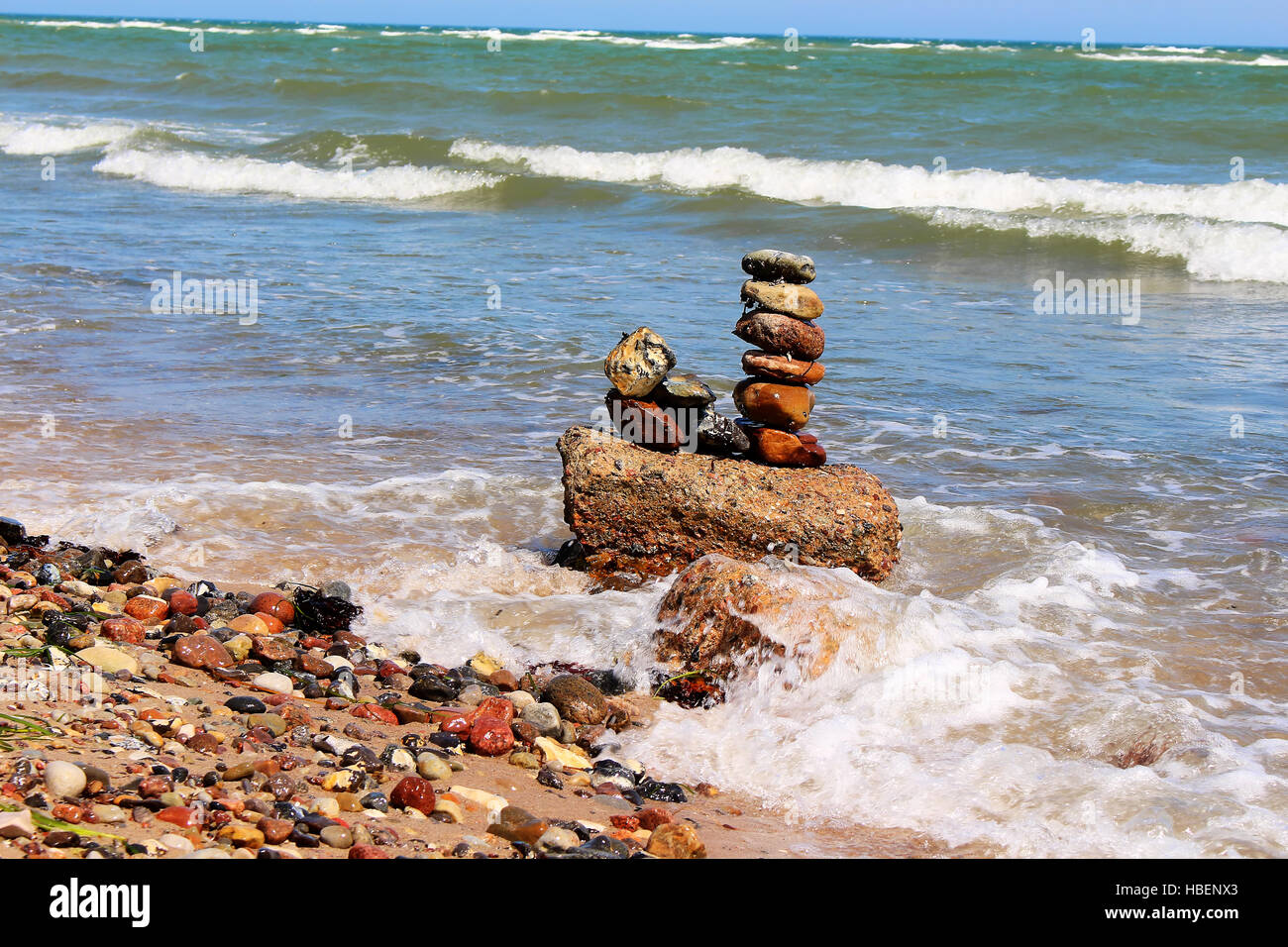 Stone Tower - Stock Image