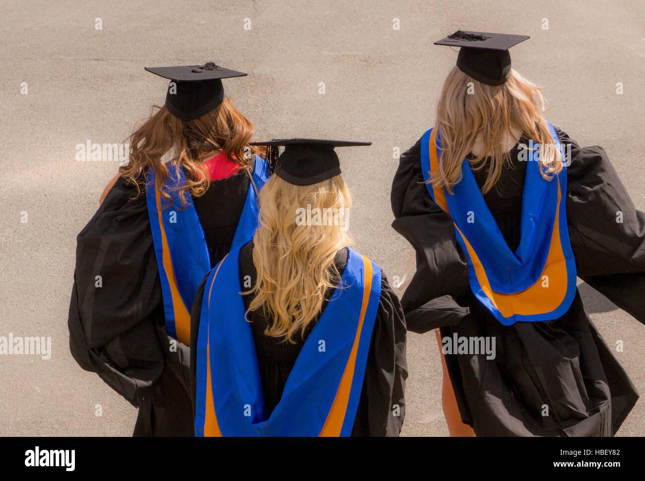New graduates at UK university - Stock Image