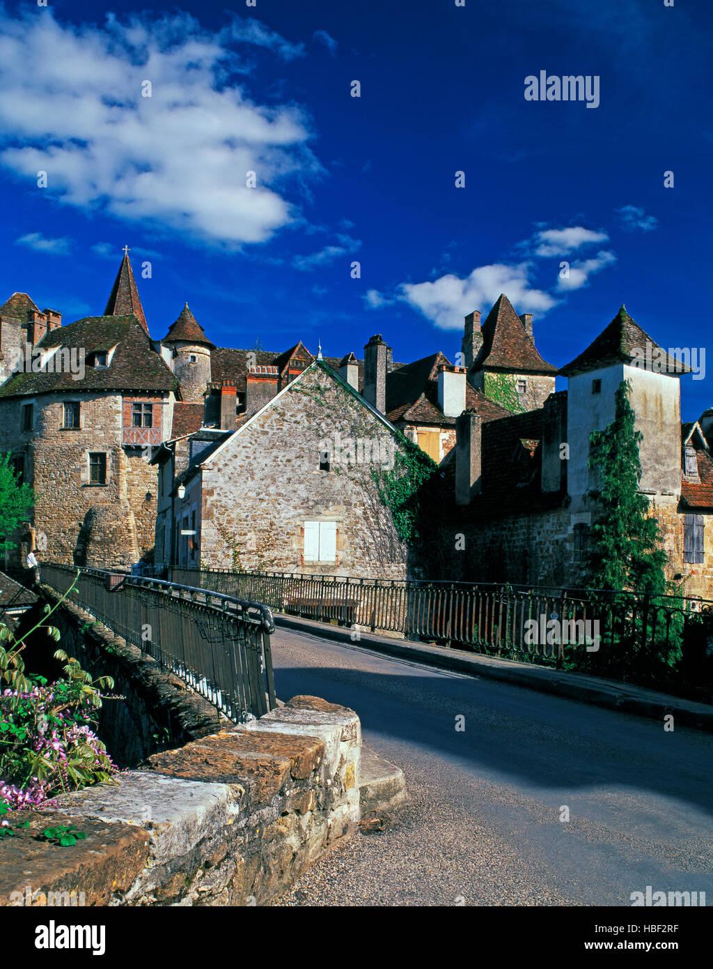 Carrenac village, Lot Province, Midi Pyrenees, France - Stock Image
