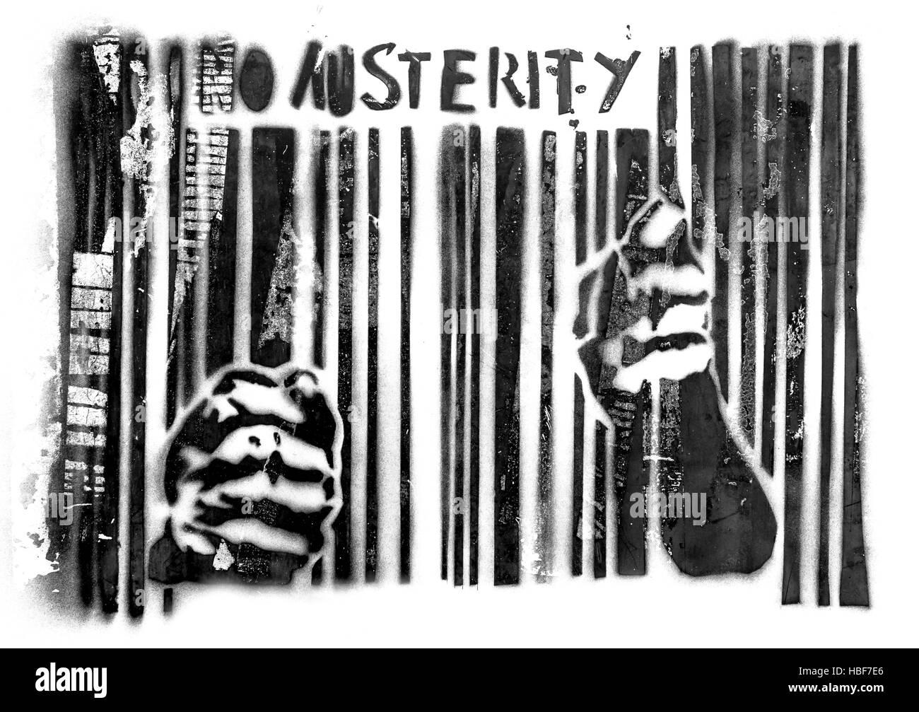 No austerity - Stock Image