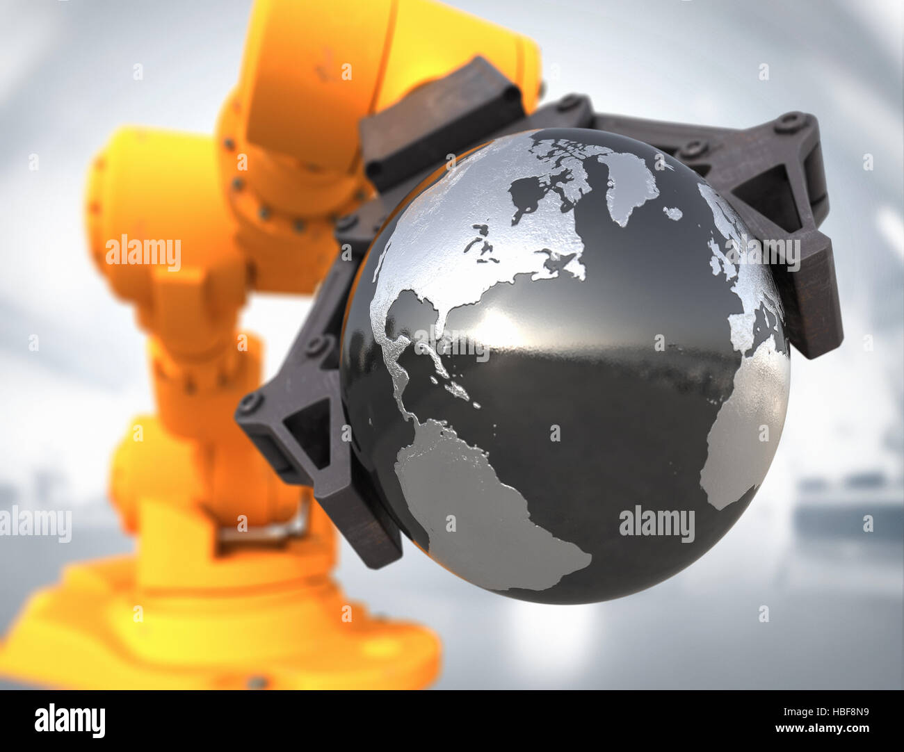 High technology world - Stock Image