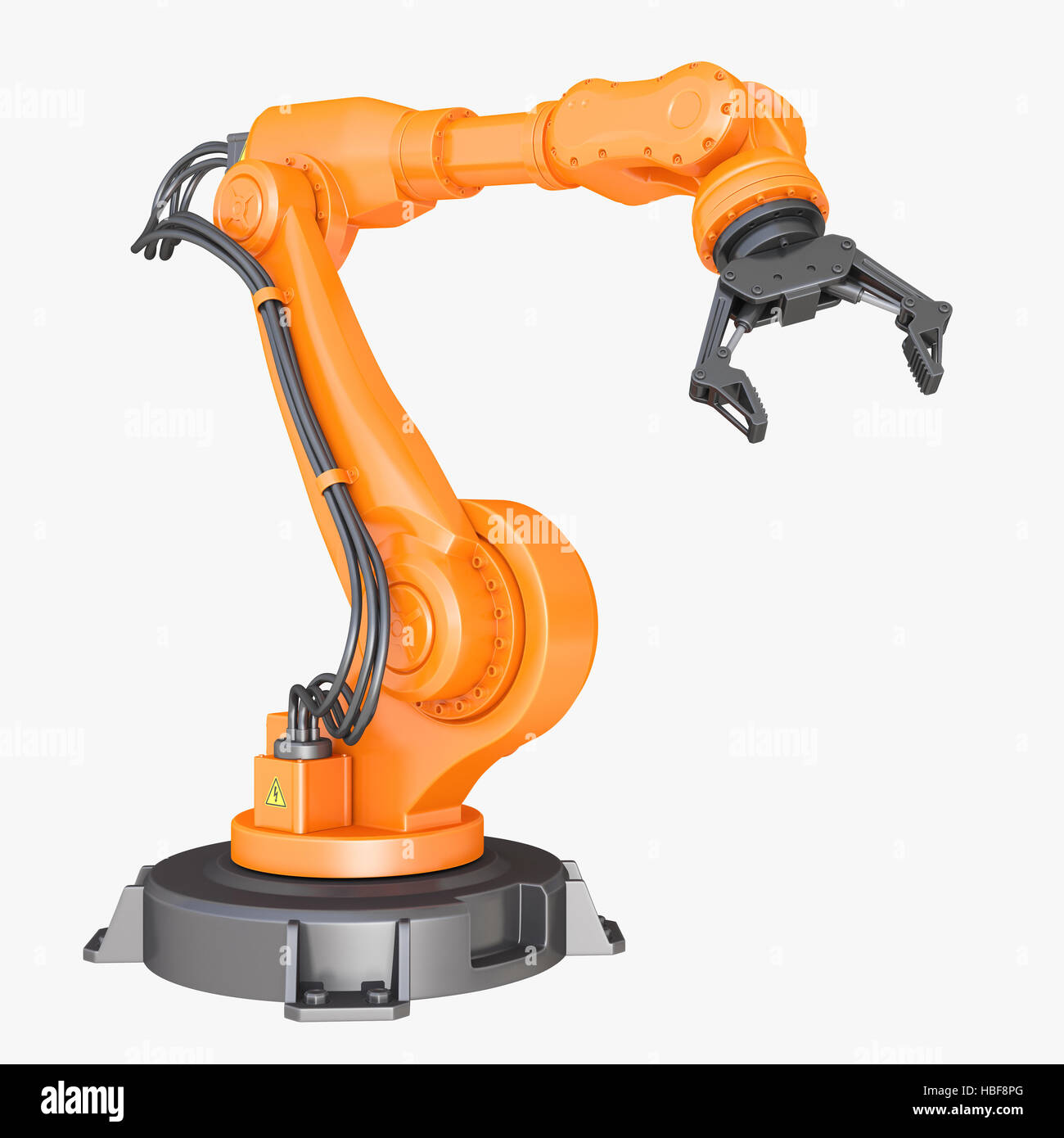 Industrial robot. Clipping path included - Stock Image