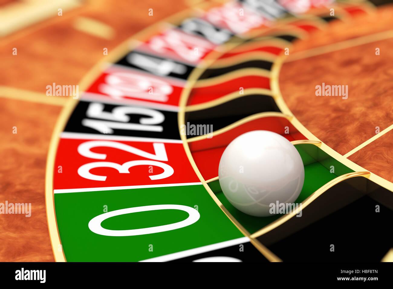 Casino roulette. Zero - Stock Image