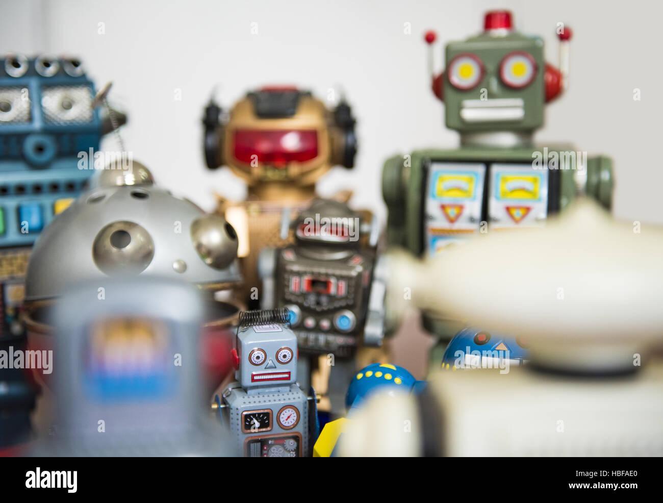 meet robots Stock Photo