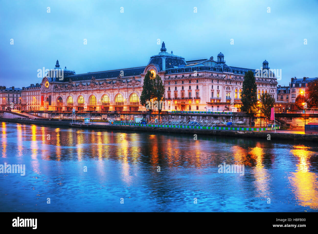 D'Orsay museum building in Paris, France at sunrise Stock Photo