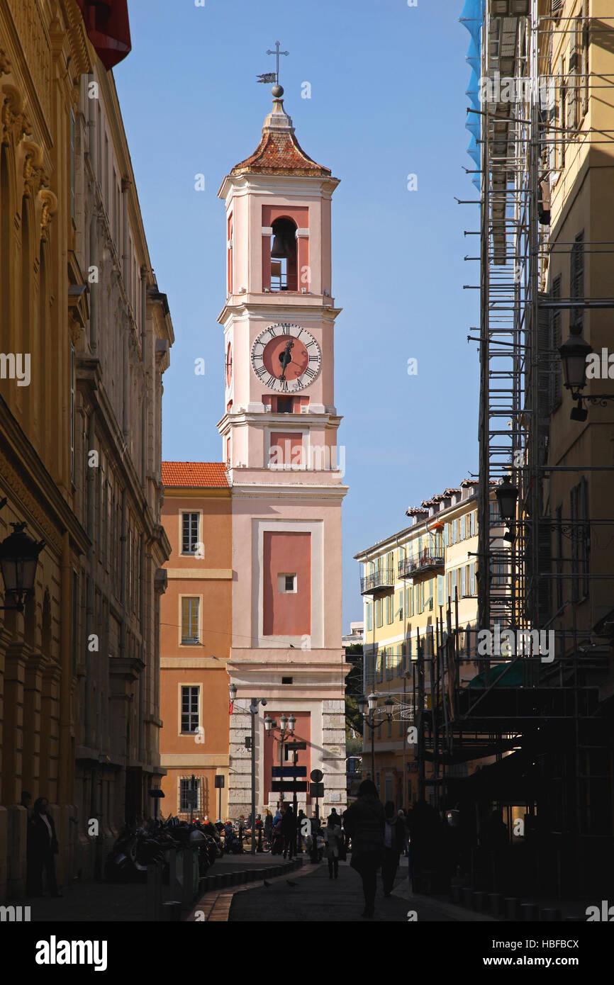 Clock Tower Nice - Stock Image