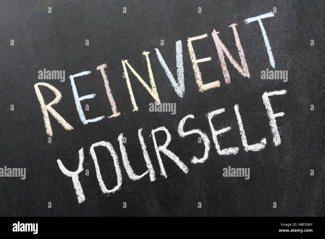 reinvent yourself - Stock Image