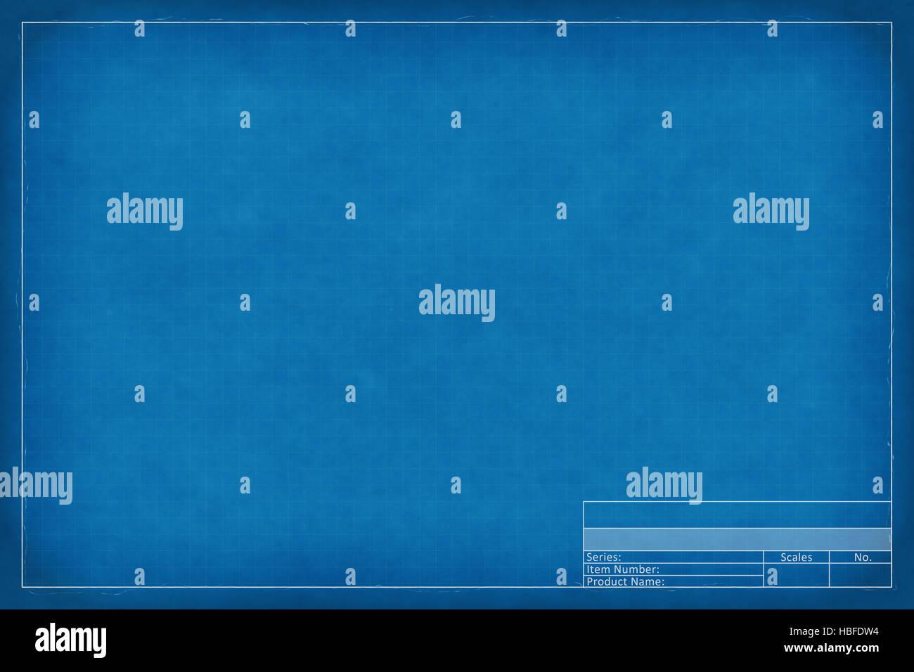 blank blueprint - Stock Image