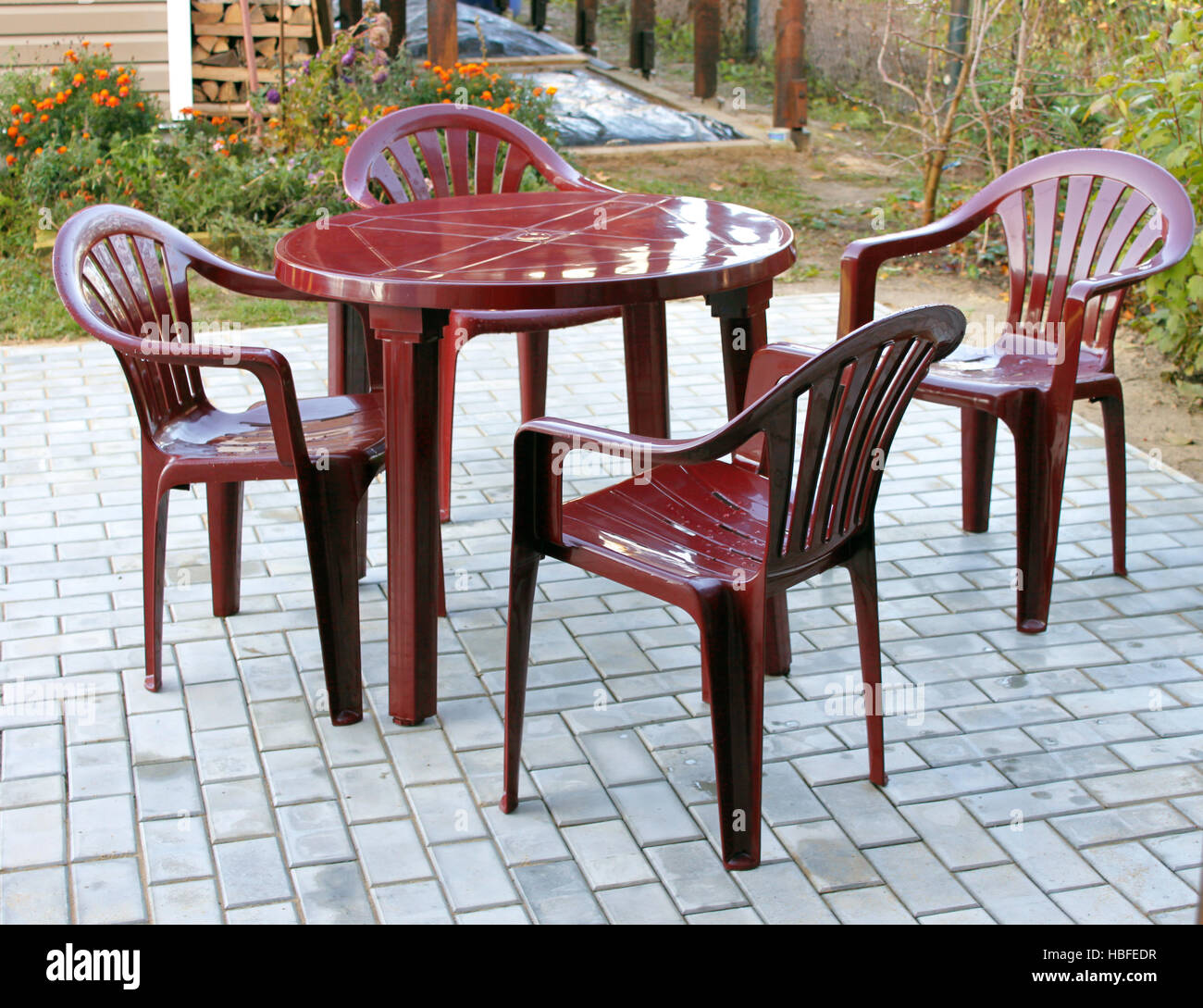 Plastic Patio Furniture Stock Photos Plastic Patio Furniture Stock