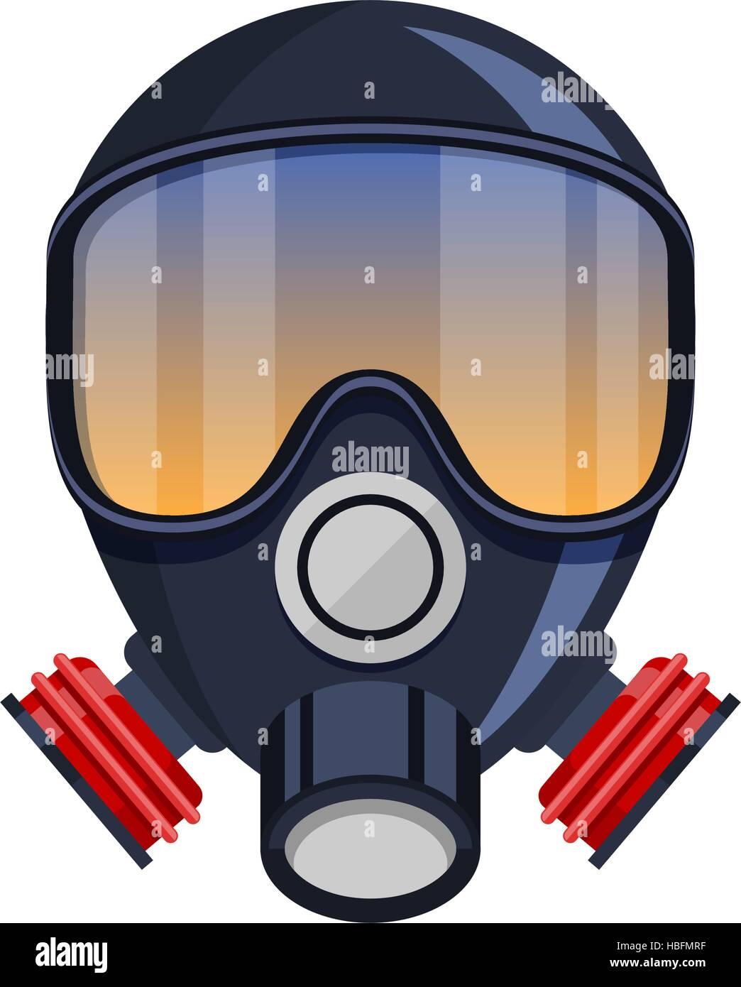 Vector respirator gas mask Icon - Stock Image