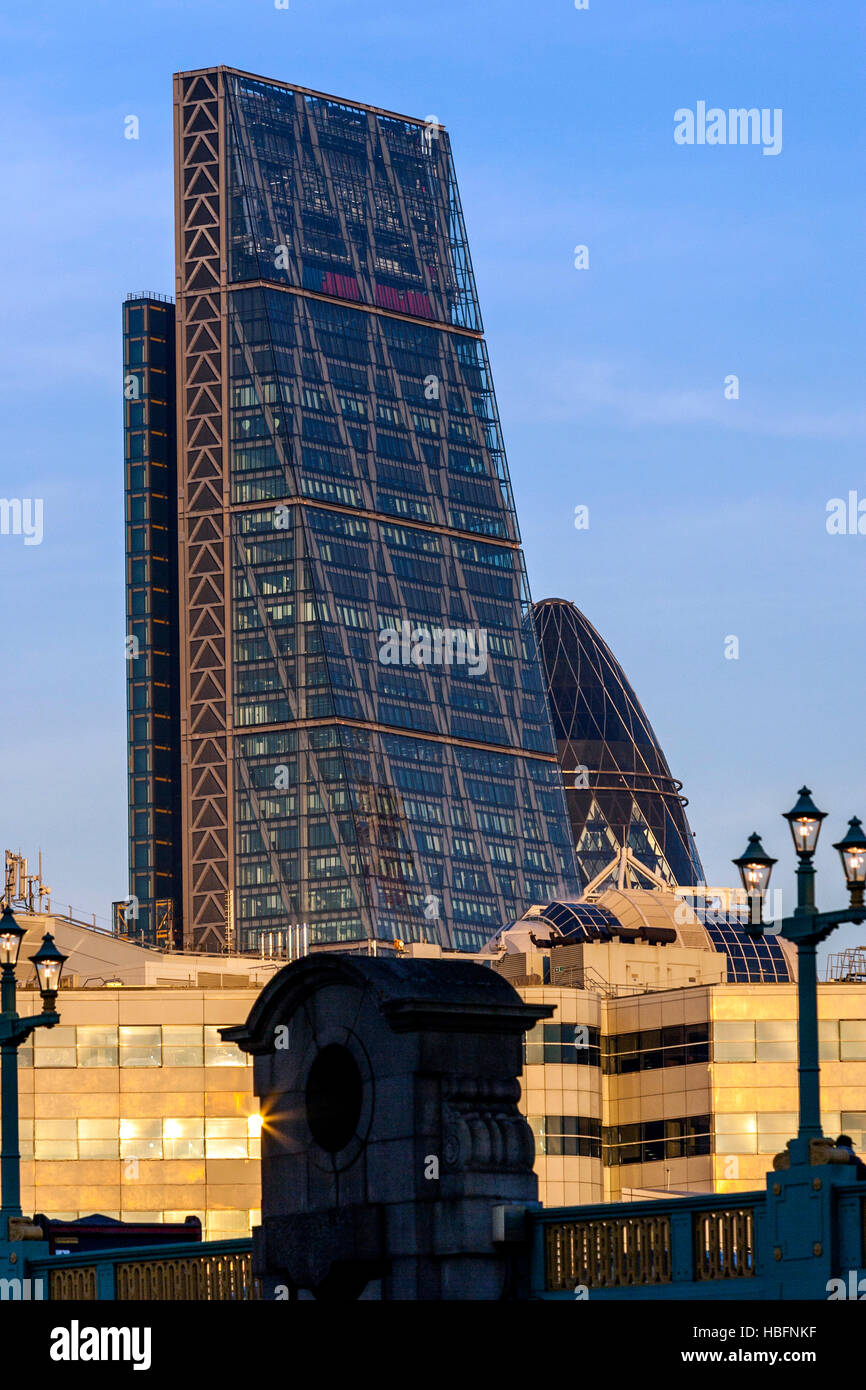 Skyscrapers In The City Of London, London, England - Stock Image
