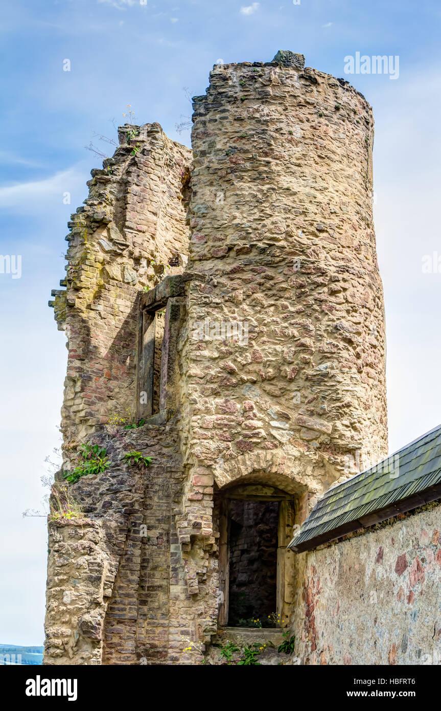 Ruined castle in Frauenstein - Stock Image