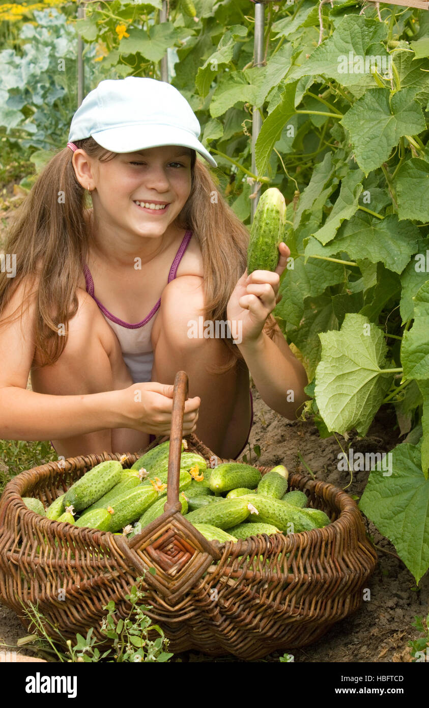Girls Playing With Cucumbers