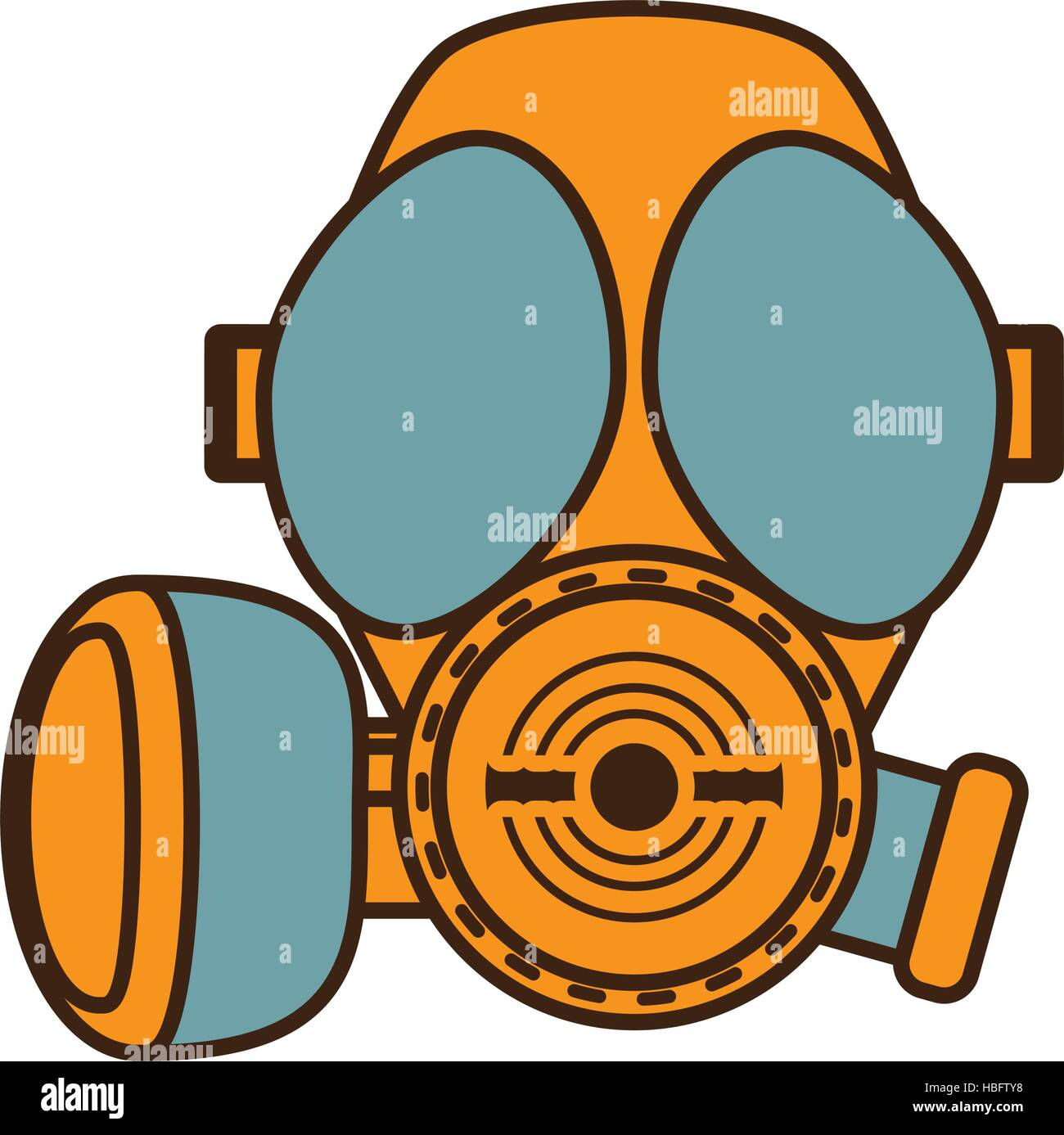 cartoon gas mask respiration protective design vector illustration eps 10 - Stock Image