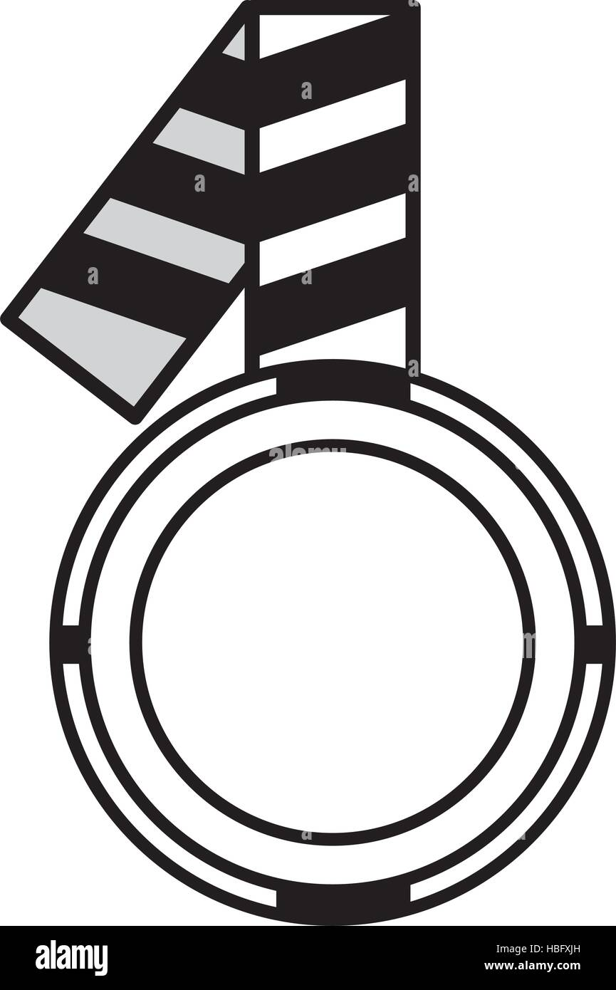 outline caution striped tape warning icon vector illustration eps 10 - Stock Vector