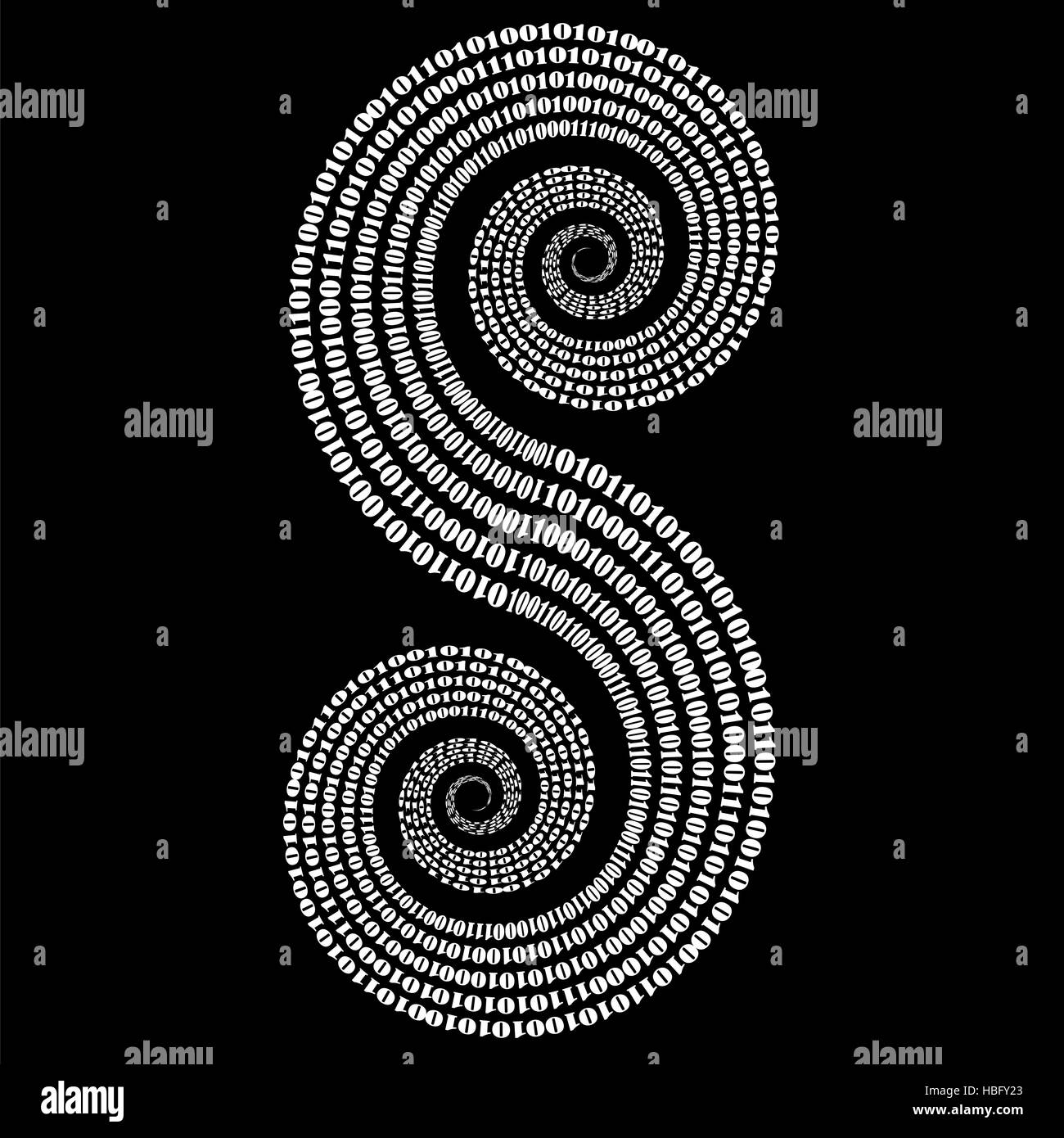 Binary Code Background. Numbers Concept - Stock Image