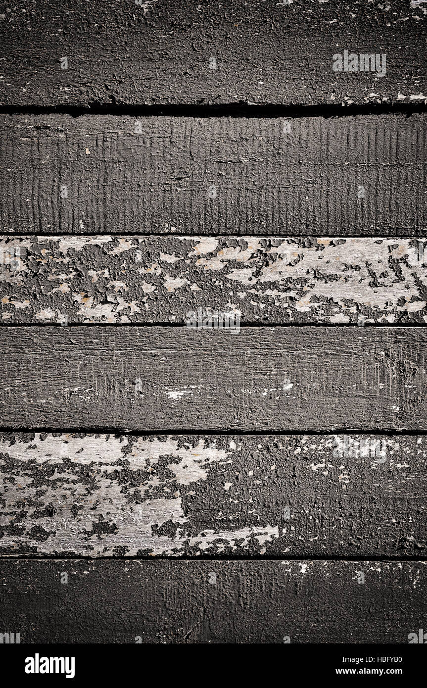 Obsolete painted planks - Stock Image