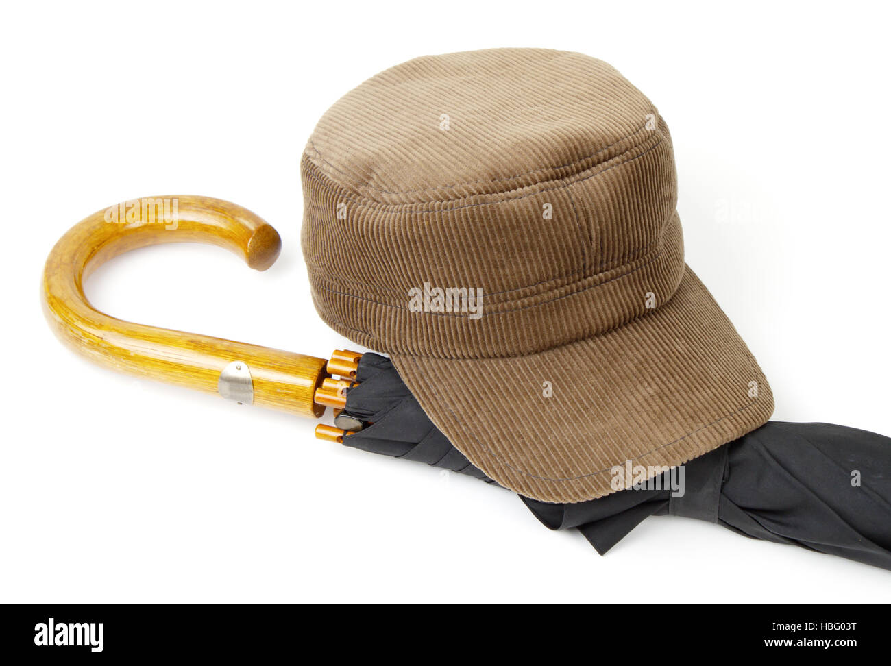 Headgear and an umbrella - Stock Image