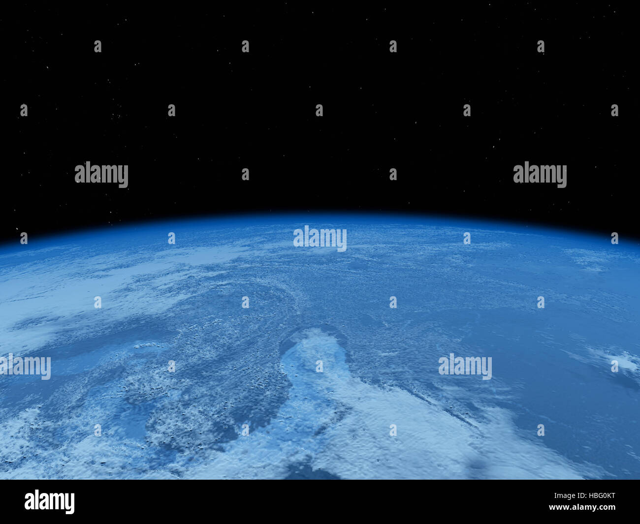 earth view from space - Stock Image