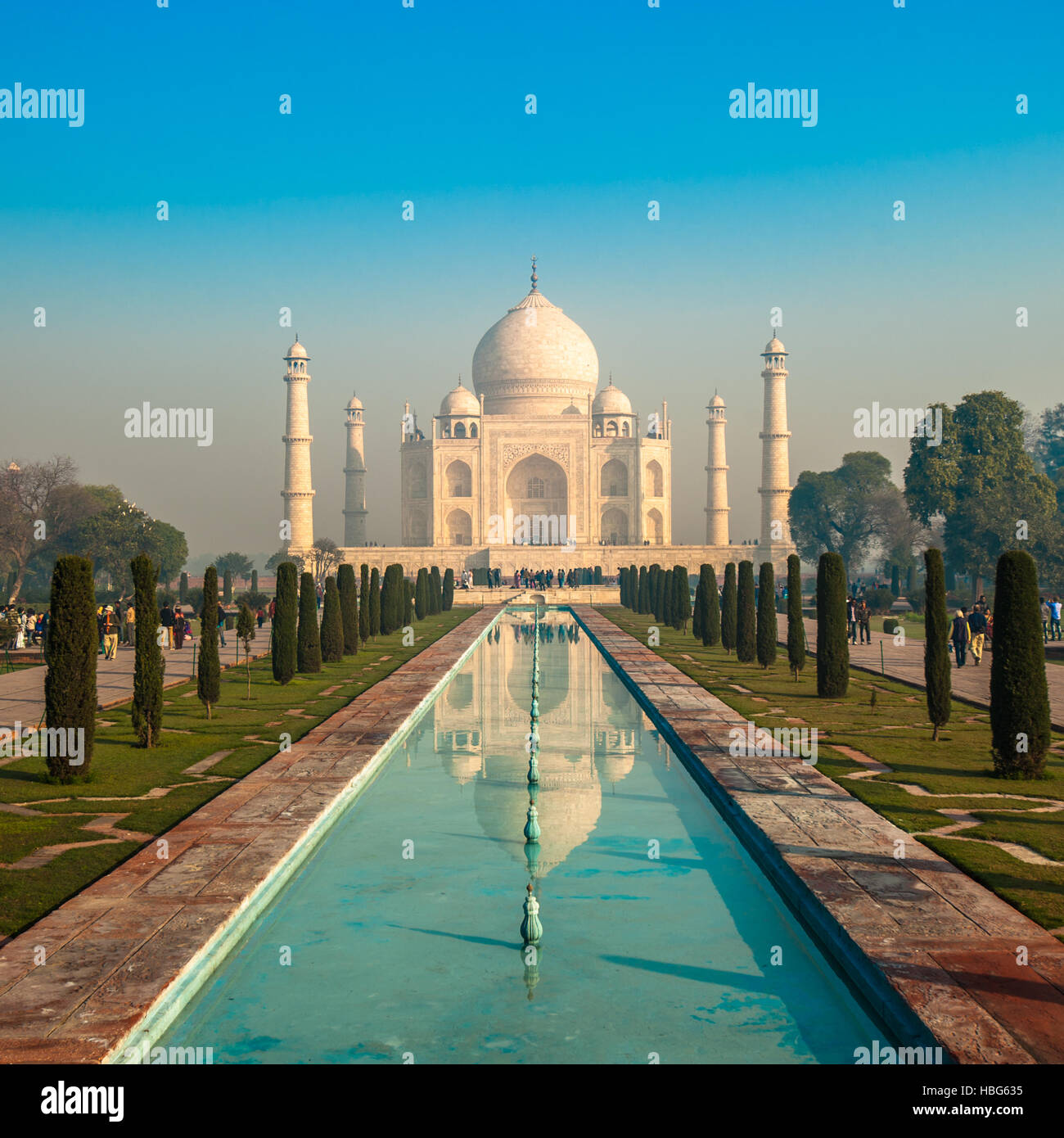 Taj Mahal, Agra, India - Stock Image