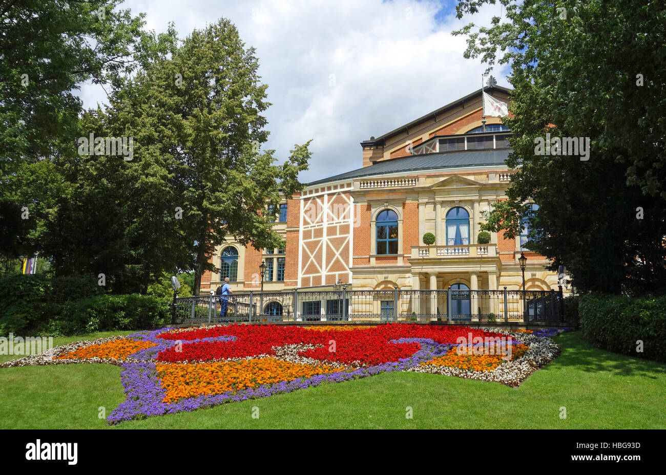 opera house bayreuth, germany - Stock Image