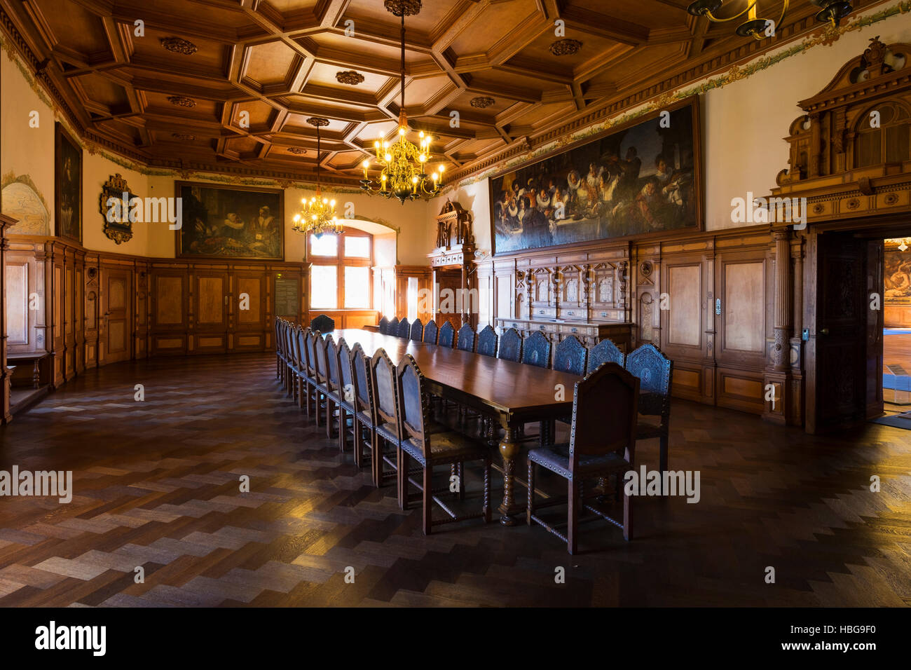 medieval castle dining room stock photos & medieval castle dining