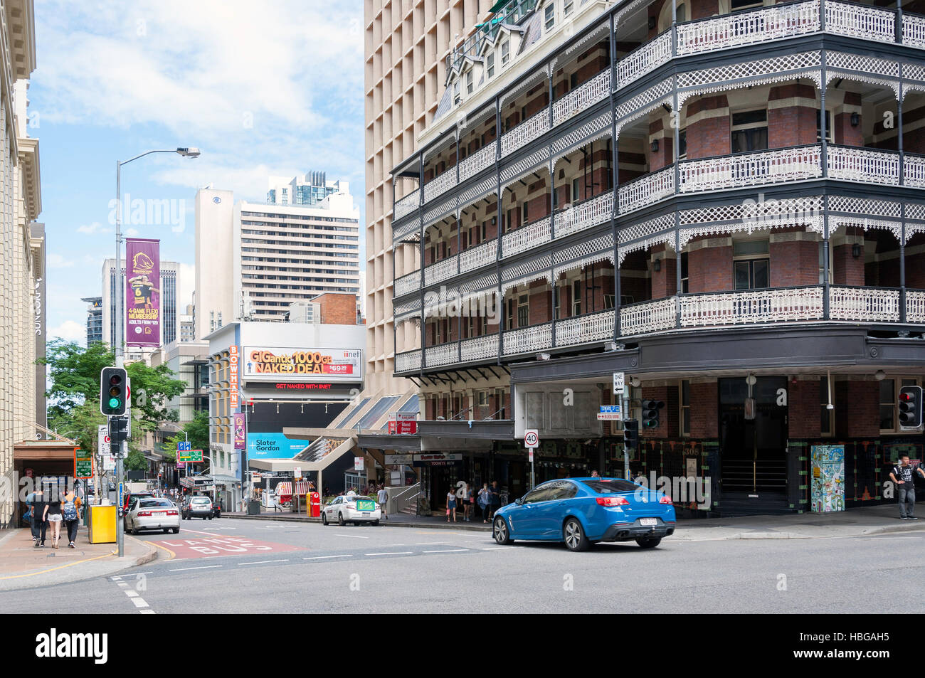 Edward Street, Brisbane City, Brisbane, Queensland, Australia - Stock Image