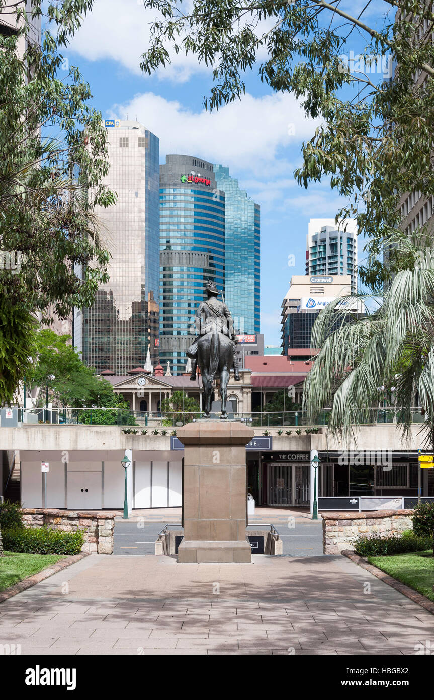 Central Business District from Anzac Square, Brisbane City, Brisbane, Queensland, Australia - Stock Image