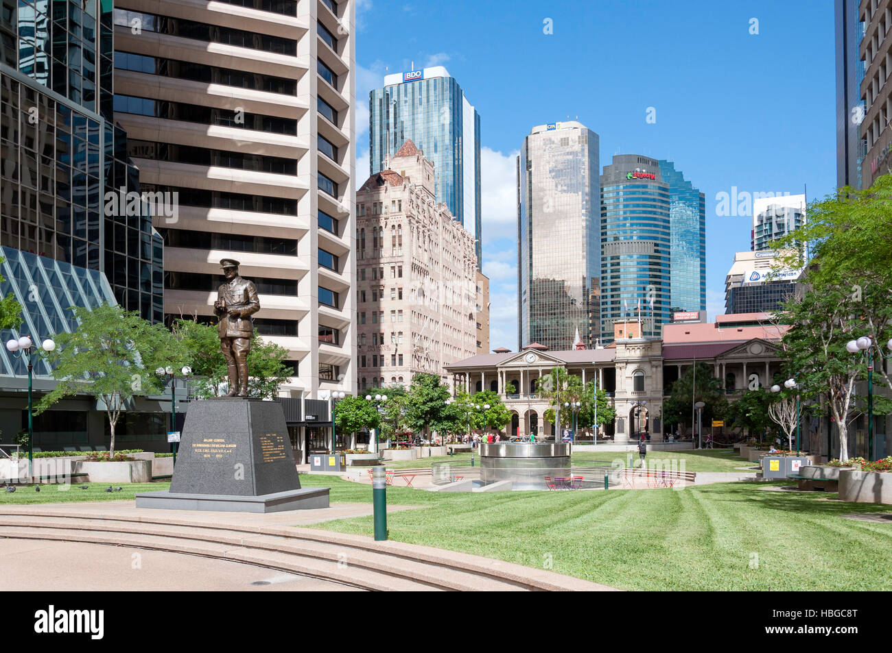 Railway Square, Brisbane City, Brisbane, Queensland, Australia - Stock Image