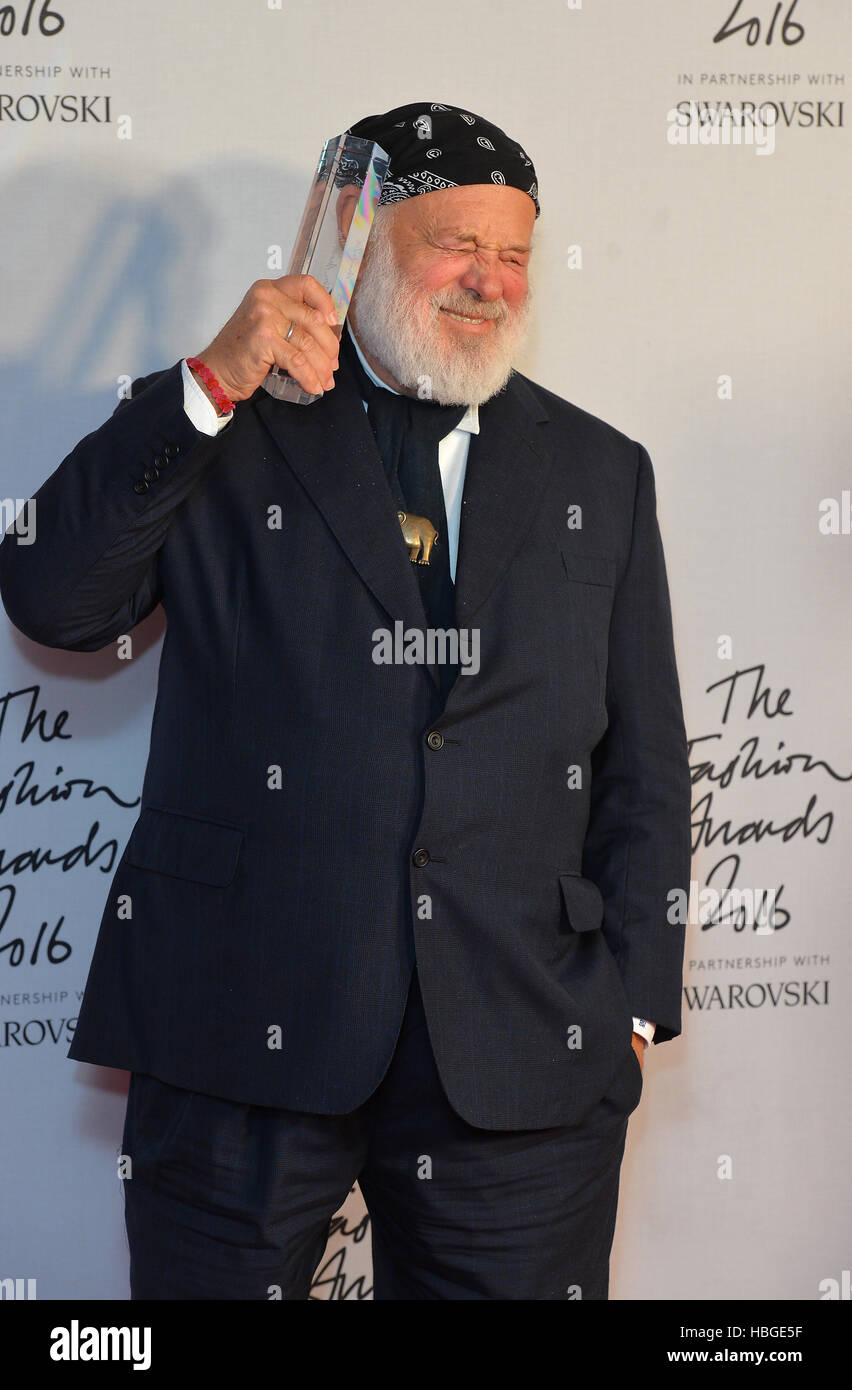 bruce weber with his isabela blow award for fashion creator in the