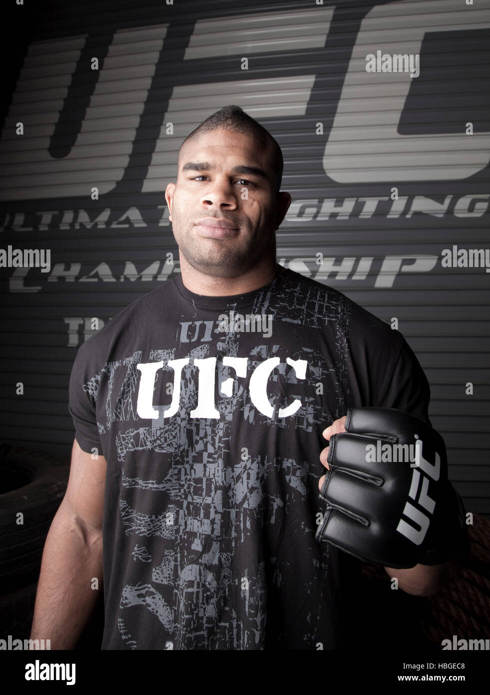 Ufc Fighter Alistair Overeem Poses For A Portrait Before Ufc