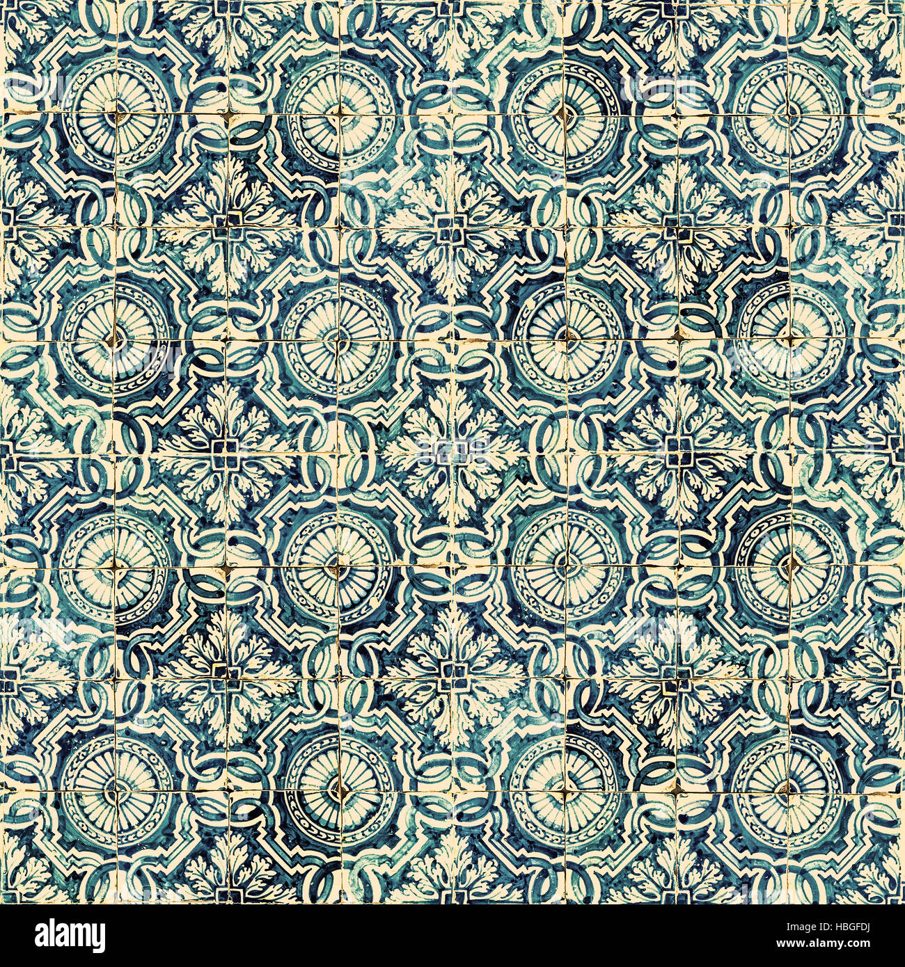 Azulejos, traditional Portuguese tiles - Stock Image