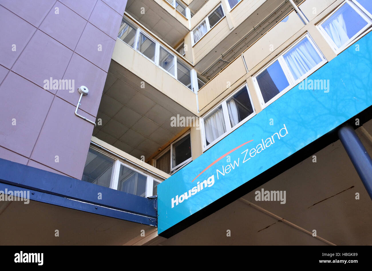 AUCKLAND -  AUG 21 2016:State Housing apartments in Auckland.For more than a century the state has provided rental - Stock Image