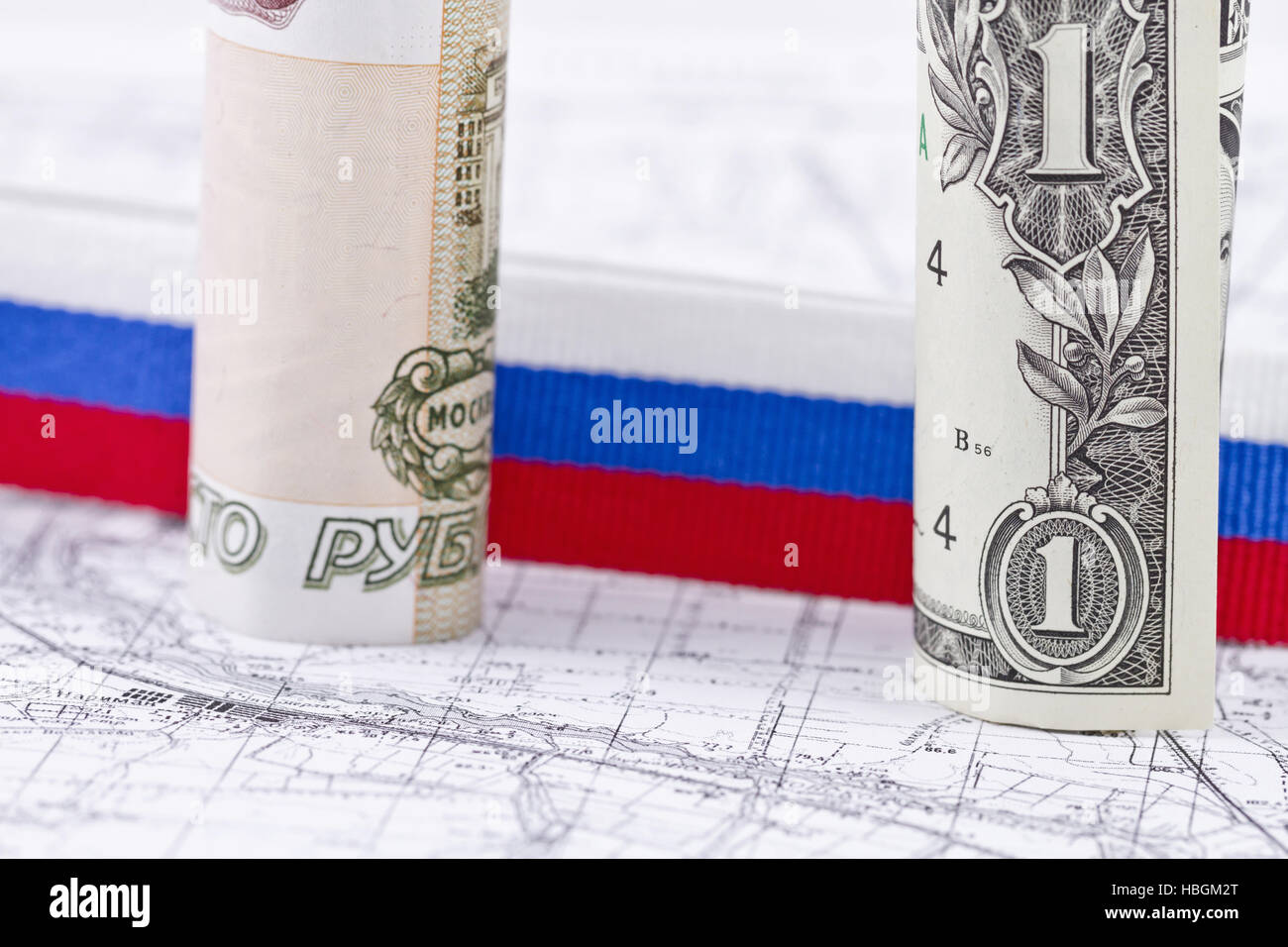 select the currency for the Russian economy - Stock Image