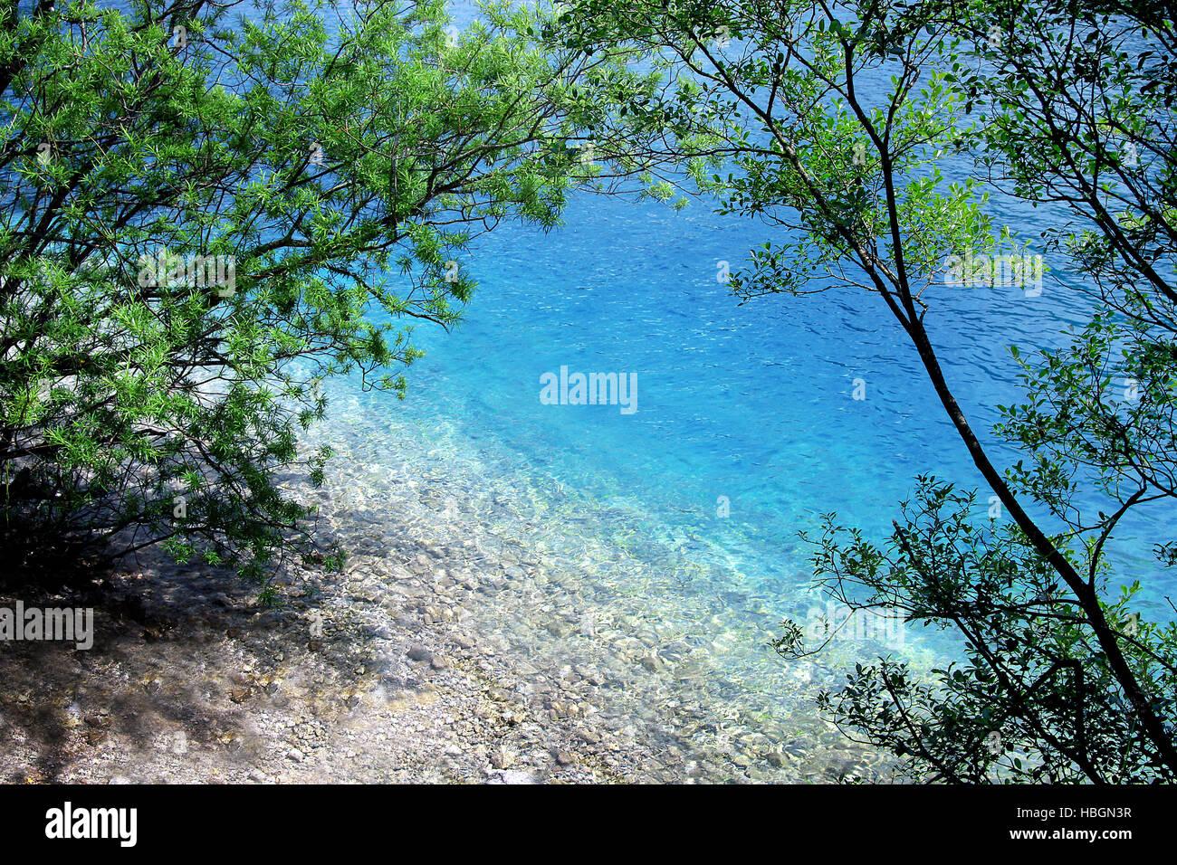 blue lagune - Stock Image