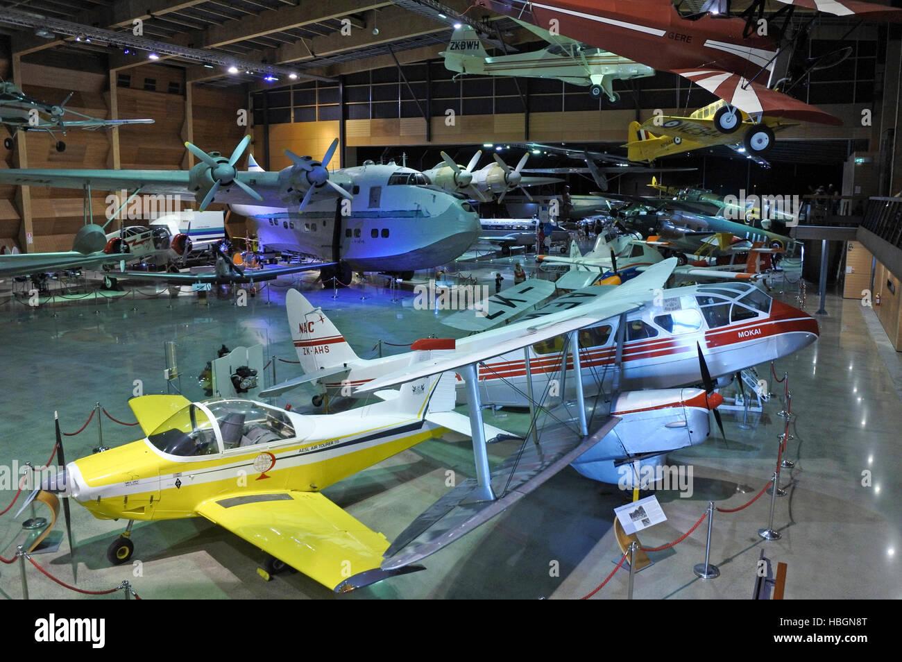 AUCKLAND - OCT 05 2016:Aircraft collection at MOTAT 2, NZ  larger civil aviation housing New Zealand aircrafts from - Stock Image