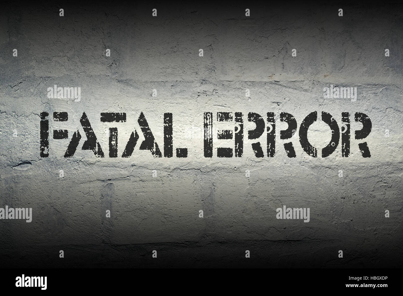fatal error - Stock Image