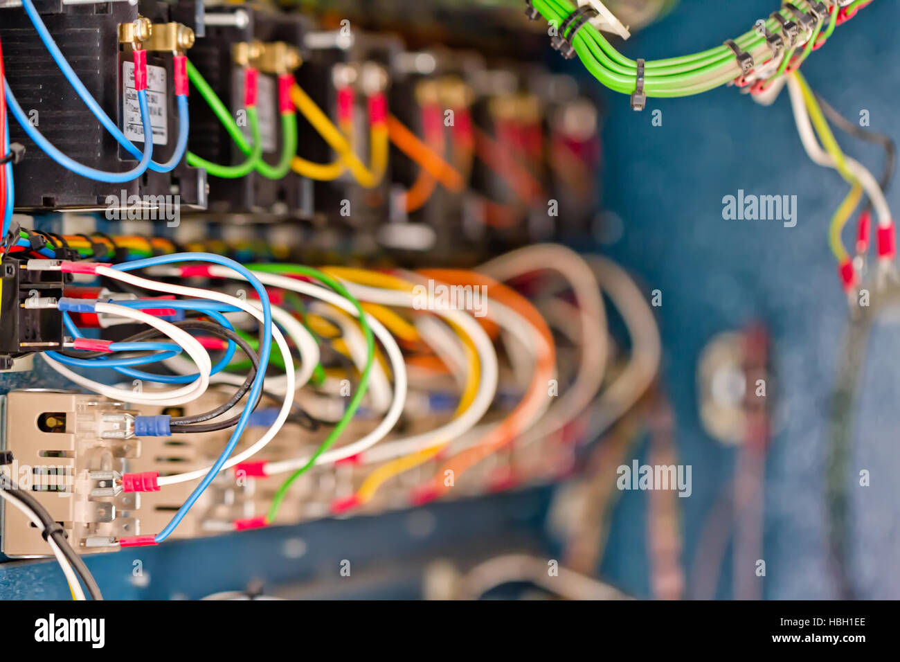 wire, terminals, transistors and capacitors - Stock Image