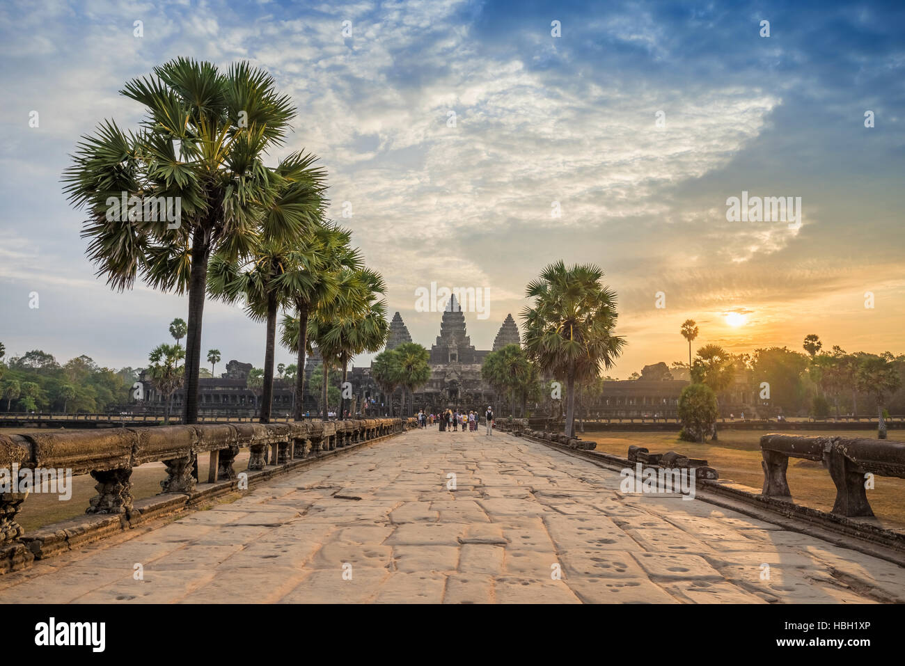 Angkor Wat Temple, Siem Reap, Cambodia Stock Photo