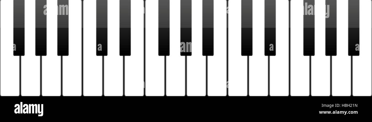 Piano Keys Drawing High Resolution Stock Photography And Images Alamy