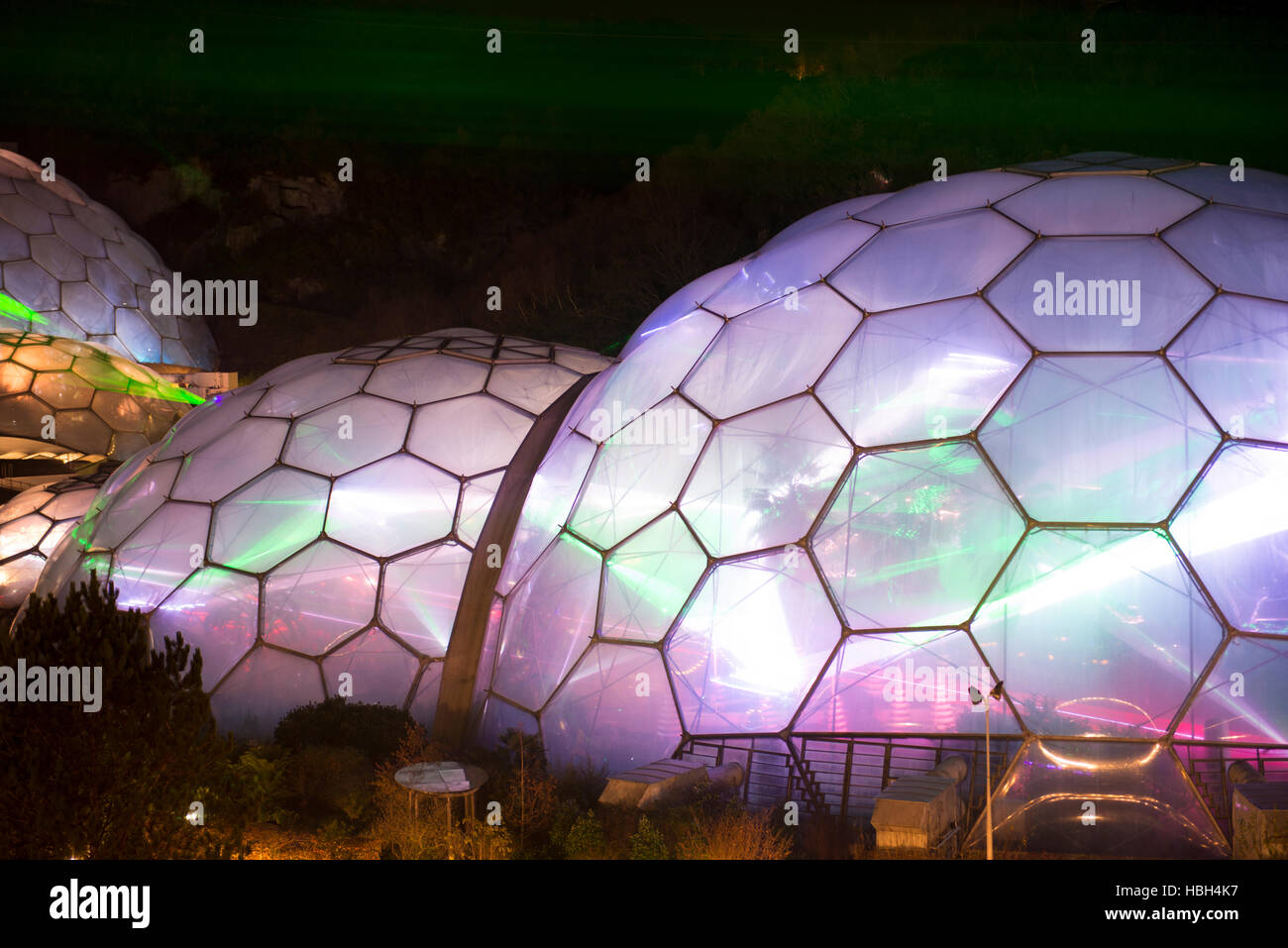 Image taken at the Eden Project for the Festival of Light and Sound - Stock Image