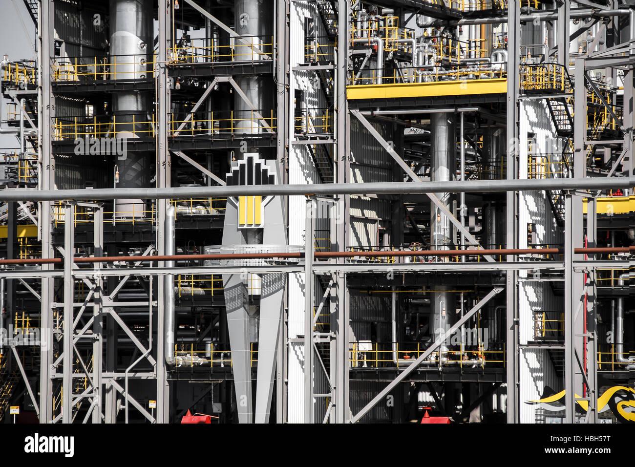 oil petrolium manufacturing industrial plant - Stock Image