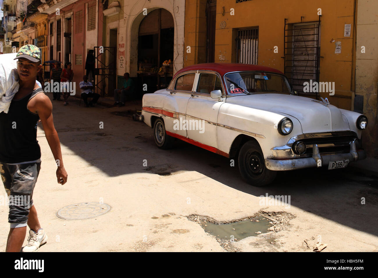 Street scene Havanna, Cuba. Stock Photo