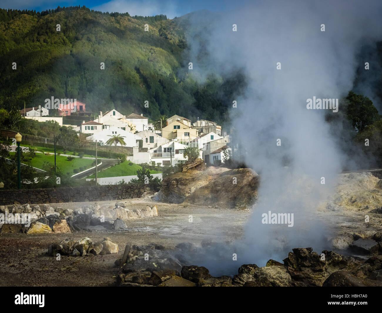 Furnas fumaroles - Stock Image