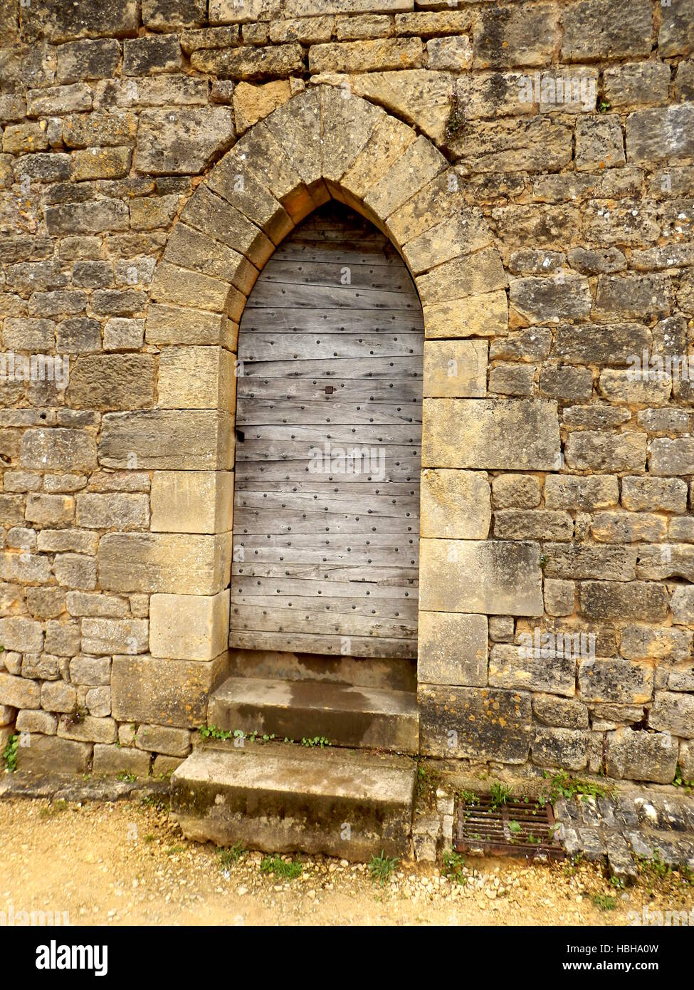 Medieval Arched Doors - Stock Image